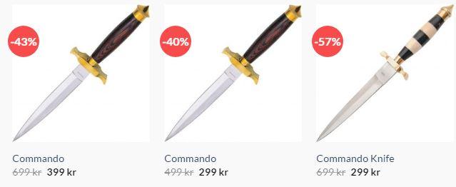 Dolkar från knivshop