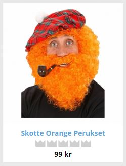 skotsk hatt peruk