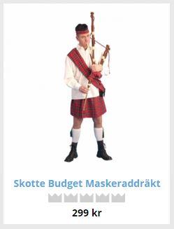 skotsk kilt maskerad